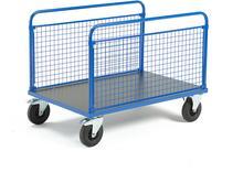 AJ Wózek platformowy 2 dłuższe boki z siatki 1200x800 mm z hamulcami 739940