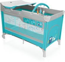 Baby Design Babydesign łóżeczko turystyczne DREAM NEW 05 TURKUSOWE 766254