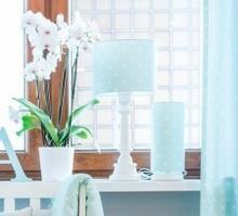 Lamps & Co. Lampa stojąca (stołowa) LOVELY DOTS MINT Lamps&co., miętowa LAMPA DLA DZIECI LOVELY DOTS MINT
