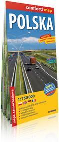 ExpressMap Polska 1:750 000 - laminowana mapa samochodowa - Praca zbiorowa
