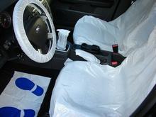 Zestaw foliowy ochronny do samochodu 5in1  50 sztuk 618/zestaw