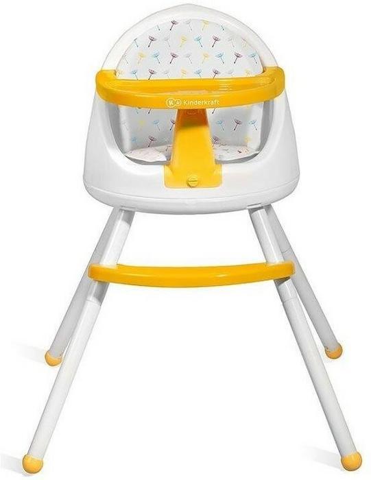 KinderKraft 4Kraft Tutti, Krzesełko do karmienia 4w1, Yellow