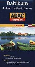Mairdumont  Kraje Bałtyckie ADAC 1:550 000