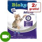 Biokats Żwirek zbrylający się żwirek dla kota Micro Fresh - 2 x 14 l