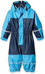 Playshoes Baby-chłopcy kurtka przeciwdeszczowa wodoodporna osłona przeciwdeszczowa Overall ubranko, deszcz z podszewką z polaru, reflektory -  104 B074RQKGMG