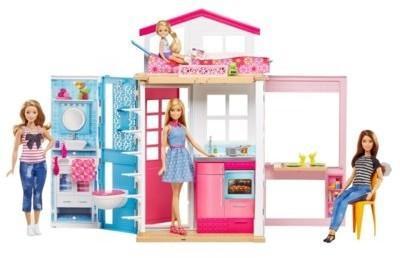 Mattel Barbie Lalka z domkiem DVV48