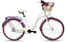 """Goetze, Rower miejski, Colours 3B 26"""", biało-fioletowy"""