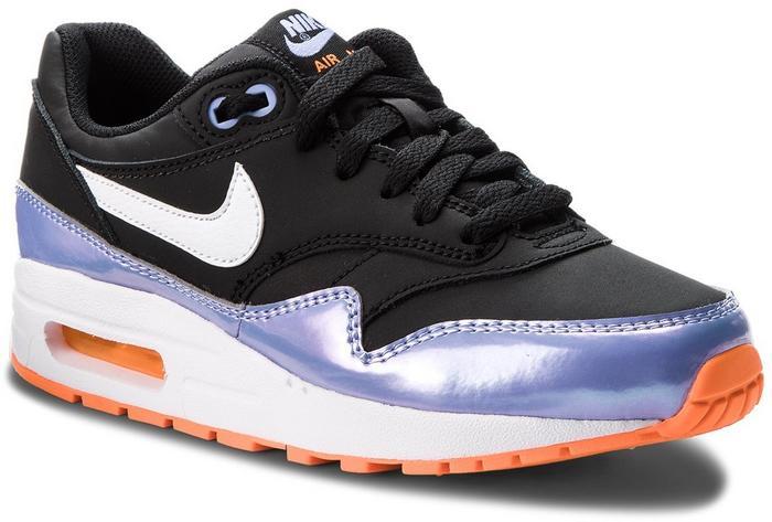 official photos cd69b 26d1c Nike Buty Air Max 1 (GS) 807605 003 Black White Twilight Pulse