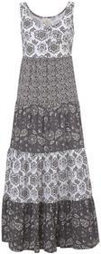 Bonprix Sukienka shirtowa szaro-czarny wzorzysty