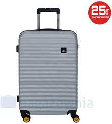 National Geographic Średnia walizka Abroad Srebrna - srebrny N078HA.60.23-0