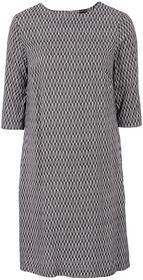 Bonprix Sukienka z wiskozy jasnoróżowy z graficznym nadrukiem