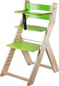 Wood Partner Krzesło rosnące dla dzieci LUCA naturalny/zielony