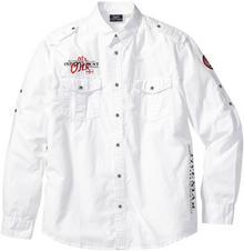 Bonprix Koszula z długim rękawem Regular Fit biały