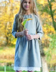 f728f6014b AQADEMIA Sukienka Charlot dla dziewczynki beżowa