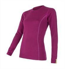 Sensor koszulka termoaktywna z długim rękawem Merino Wool Active W lilla S