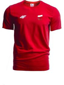 4F Koszulka męska Polska Pyeongchang 2018 TSM900R czerwony wiśniowy [S4Z17-TSM900R] TSM900R czerwony wiśniowy