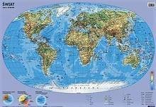 Demart Świat mapa fizyczno-polityczna ścienna - Demart