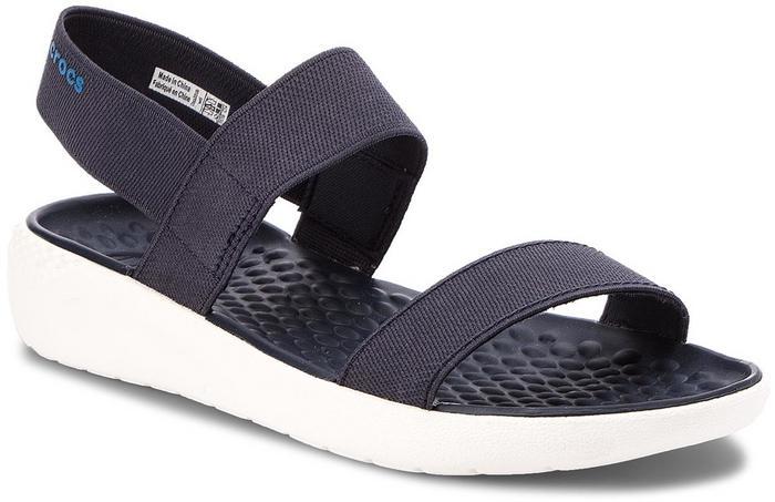 afe24a55446 Crocs Sandały Literide Sandal W 205106 Navy White – ceny