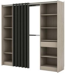 FORM Garderoba Eklips 2 kolumny z zasłoną 200 x 200 x 48 cm dąb szary CL4309B53404