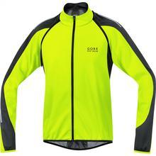 Gore Bike Wear Phantom 2.0 Soft Shell Windstopper kurtka rowerowa męska, wiatroodporna, z odczepianymi rękawami, Neon Yellow/Black, rozmiar M JWPHAM