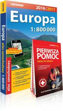 ExpressMap praca zbiorowa Europa 1:800 000. Atlas samochodowy + pierwsza pomoc