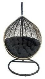 Miloo :: Fotel wiszący Cocoon beżowy / czarny