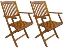 vidaXL Składane krzesła ogrodowe z drewna akacjowego, 2 szt.