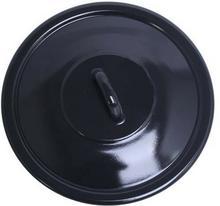 Emalia Pokrywka emaliowana czarna 16 cm