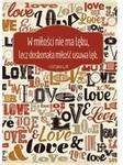 A Kartka składana - w miłości nie ma lęku love