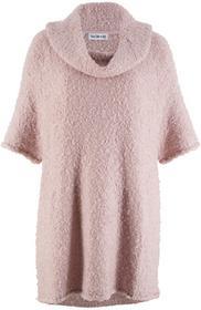 Bonprix Sweter oversize z rękawami 3/4, z kolekcji Maite Kelly matowy jasnoróżowy
