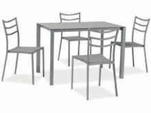 Signal Zestaw KENDO (stół + 4 krzesła) szary KENDOSZ