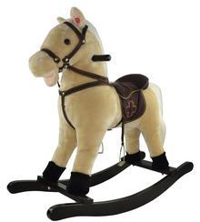 Teddies Koń na biegunach beżowy