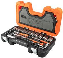 BAHCO Zestaw kluczy nasadowych S560 1/4 i 1/2, 56 elementów S560
