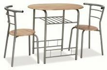 Signal Zestaw GABO (stół + 2 krzesła) dąb sonoma GABOD