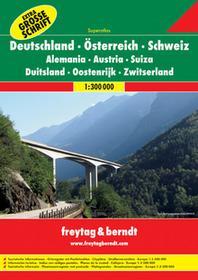 Freytag&Berndt Niemcy Austria Szwajcaria atlas 1:300 000 Freytag & Berndt