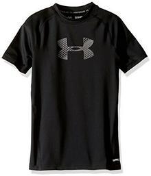 Under Armour koszulka chłopięca SS koszulka z krótkim rękawem, czarny 1289957-001