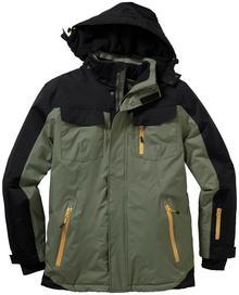 Bonprix Termoaktywna kurtka zimowa oliwkowo-czarny
