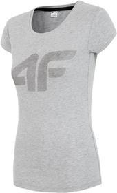 4F T-shirt damski TSD006 (szary melanż) : Rozmiar - XS