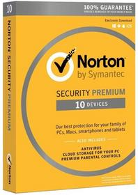 Symantec Norton Security 3.0 PREMIUM 10PC/1ROK Norton internet security