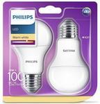 Philips 8718696586099 żarówka LED, zamiennik żarówki 100 W, E 27, barwa światła ciepła biała (2700 K), strumień świetlny 1521 lm, 2 sztuki w opakowaniu