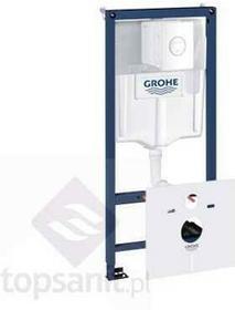 Grohe RAPID SL 5 w 1 Stelaż Podtynkowy WC stelaż wsporniki przekładka akustyczna system fresh + przycisk Nova Cosmopolitan biały ) 39451000 39451000