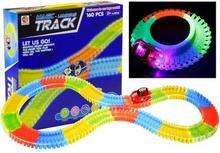 Lean Toys Neonowy Tor Samochodowy + Auto LED Świeci 160PCS