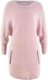 Bonprix Sweter strukturalny, rękawy 3/4, z kolekcji Maite Kelly matowy jasnoróżowy