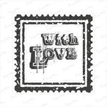 Crafty Moly Stempel gumowy znaczek pocztowy - with love P01-167
