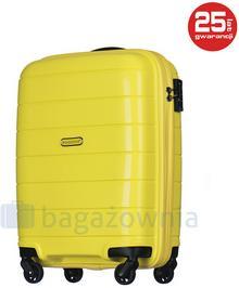 Puccini Mała kabinowa walizka MADAGASCAR PP013C 6 Żółta - żółty PP013C 6