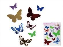 OOTB Dekoracyjne naklejki na ścianę, motyle, 12 szt.