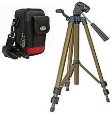 Aktions-Set Aparat fotograficzny torba Red Rock Plus zestaw z zamkiem podróży statyw do Sony CyberShot DSC W830WX350/Canon IXUS 275HS 180175/Panasonic Lumix DMC SZ10/Nikon Coolpix A300A10 440611 + 372750
