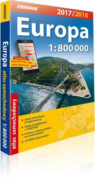 ExpressMap praca zbiorowa Europa. Atlas samochodowy 1:800 000