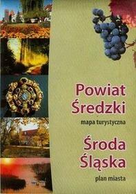 Powiat Średzki mapa turystyczna Środa Śląska plan miasta BiK