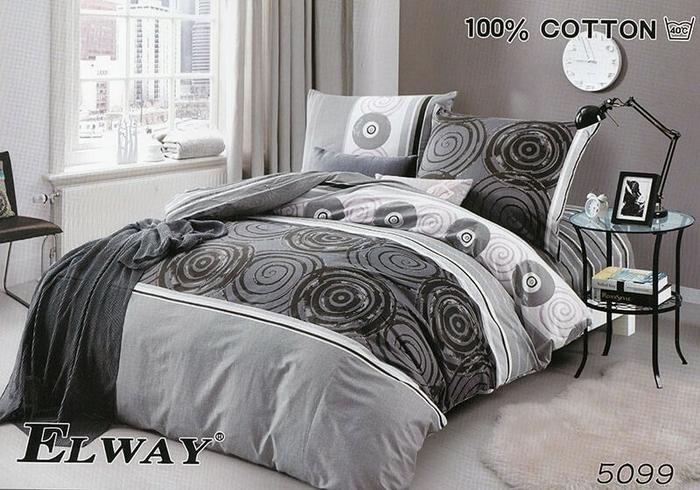 Elway Komplet Pościeli Satyna Bawełniana 3 Cz 180x200 Dwustronna